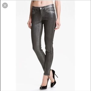👖 J Brand super skinny coated jeans
